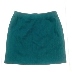 💎 H&M teal green wool mini skirt